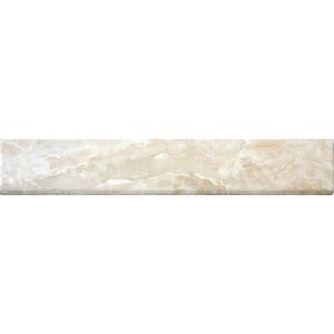 MS International Onyx Crystal 3 in. x 18 in. Porcelain Bullnose Wall Tile