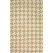 Home Decorators Collection Houndstooth Beige 7 ft. x 9 ft. Area Rug