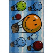LA Rug Inc. SmileyHot Air Balloon Multi Colored 19 in. x 19 in. Accent Rug