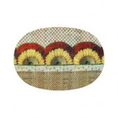Sunflowers 20 in. x 30 in. Braided Rug