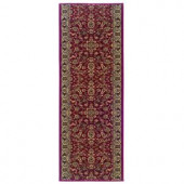 Natco Kurdamir Kashan Claret 26 in. x Your Choice Length Roll Runner