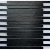 EPOCH Dancez Electric Slide Brushed Metal Mesh Mounted Tile - 4 in. x 4 in. Tile Sample