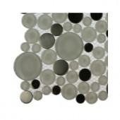 Splashback Tile Contempo Eskimo Pie Circles Glass - 6 in. x 6 in. Tile Sample