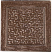 MARAZZI Montagna 2 in. x 2 in. Metal Resin Bronze Basketweave Deco