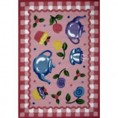 LA Rug Inc. Olive Kids Tea Party Multi Colored 19 in. x 29 in. Area Rug