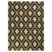 Kas Rugs Palace Row Black/Beige 2 ft. 3 in. x 3 ft. 9 in. Area Rug