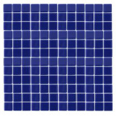 EPOCH Monoz M-Blue-1402 Mosiac Recycled Glass Mesh Mounted Floor & Wall Tile - 4 in. x 4 in. Tile Sample