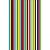 LA Rug Inc. Fun Time Stripemania Multi Colored 19 in. x 29 in. Area Rug