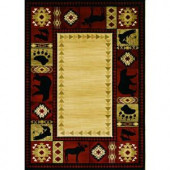 Balta US Northern Territory Red and Moose Bear 5 ft. 3 in. x 7 ft. 5 in. Area Rug