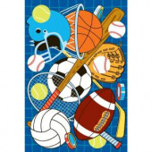 LA Rug Inc. Fun Time Let's Play Blue Multi Colored 19 in. x 29 in. Accent Rug