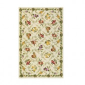 Home Decorators Collection Fruit Garden Ivory 2 ft. 6 in. x 4 ft. Area Rug