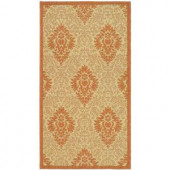 Safavieh Courtyard Natural/Terra 2 ft. x 3.6 ft. Area Rug