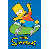 Fun Rugs The Simpsons Jumping High Multi Colored 19 in. x 29 in. Accent Rug