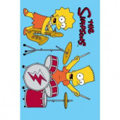 Fun Rugs The Simpsons Rock Stars Blue 19 in. x 29 in. Accent Rug