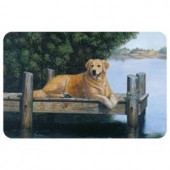 Bungalow Flooring Printed Golden By Dunes Mat by Mia Lane 17.5 in. x 26.5 in.