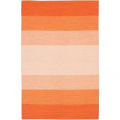 Chandra India Orange 2 ft. x 3 ft. Indoor Area Rug
