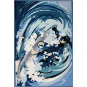 LA Rug Inc. Fun Time Surfin Multi Colored 19 in. x 29 in. Area Rug
