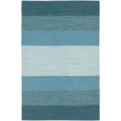 Chandra India Blue 2 ft. x 3 ft. Indoor Area Rug