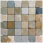MS International 12 in. x 12 in. Horizon Tumbled Quartzite Mesh-Mounted Mosaic Tile