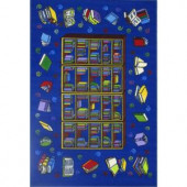 LA Rug Inc. Fun Time Reading Time Multi Colored 19 in. x 29 in. Area Rug