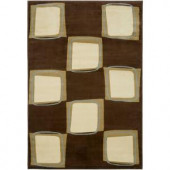 LR Resources Adana Brown/Cream 1 ft. 10 in. x 3 ft. 1 in. Plush Indoor Accent Rug