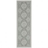 Safavieh Courtyard Light Grey/Anthracite 2.6 ft. x 8.2 ft. Area Rug