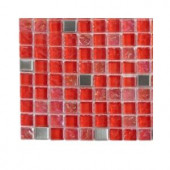 Splashback Tile Bloody Mary Squares Glass - 6 in. x 6 in. Tile Sample