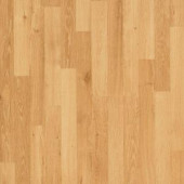 Mohawk Natural Oak 3-Strip 7 mm Thick x 7-1/2 in. Wide x 47-1/4 in. Length Laminate Flooring (19.63 sq. ft. / case)