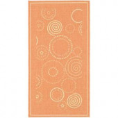 Safavieh Courtyard Terracotta/Natural 2 ft. x 3.6 ft. Area Rug