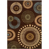 LR Resources Contemporary Brown 1 ft. 10 in. x 3 ft. 1 in. Plush Indoor Area Rug
