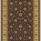 Home Dynamix Regency Brown/Ivory 26 in. x Your Choice Roll Runner