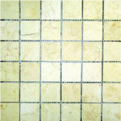 MS International 2 In x 2 In Luxor Gold Limestone Mosaic Floor & Wall Tile