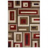 Mohawk Modern Blocks Medium Beige 2 ft. x 3 ft. Accent Rug