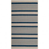 Safavieh Courtyard Navy/Beige 2 ft. x 3.6 ft. Area Rug