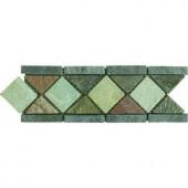 MS International Aspen Slate Listello 4 in. x 12 in. Floor & Wall Tile (1 Ln. Ft. per piece)