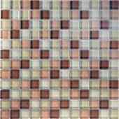 EPOCH Desertz Gobi-1420 Mosaic Glass Mesh Mounted Tile - 4 in. x 4 in. Tile Sample