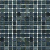 EPOCH Metalz Textured Tungsten-1009 Mosiac Recycled Glass Mesh Mounted Floor & Wall Tile - 4 in. x 4 in. Tile Sample