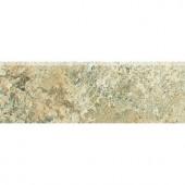 Daltile Folkstone Slate Sandy Beach 2 in. x 6 in. Bullnose Wall Tile