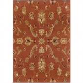 LR Resources Transitional Rust 1 ft. 10 in. x 3 ft. 1 in. Plush Indoor Area Rug