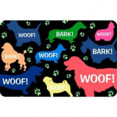 Bungalow Flooring Printed Woof 17.5 in. x 26.5 in. Pet Mat