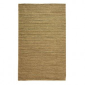Home Decorators Collection Banded Jute Dark Natural 3 ft. x 5 ft. Area Rug