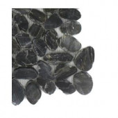 Splashback Tile Pebble Rock Flat Bed Marble Floor and Wall Tile - 6 in. x 6 in. Tile Sample