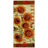 Mohawk Sunshine Seeds Multi 1 ft. 8 in. x 3 ft. 9 in. Kitchen Rug