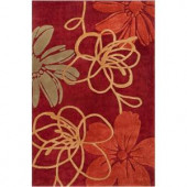 Himalaya Wine 1 ft. 11 in. x 3 ft. 3 in. Area Rug