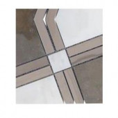 Splashback Tile Prism Tormento Marble Floor and Wall Tile - 6 in. x 6 in. Tile Sample