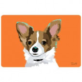 Bungalow Flooring Printed Chihuahua 36 17.5 in. x 26.5 in. Mat