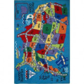LA Rug Inc. Fun Time Travel Fun Multi Colored 19 in. x 29 in. Area Rug