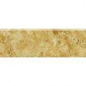Daltile Heathland Amber 2 in. x 6 in. Glazed Ceramic Bullnose Wall Tile