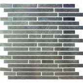 MS International Silver Interlocking 12 in. x 12 in. x 8 mm Metal Mosaic Wall Tile
