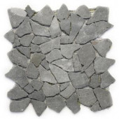 Solistone Indonesian Java Black 12 in. x 12 in. x 12.7 mm Pebble Mesh-Mounted Mosaic Floor and Wall Tile (10 sq. ft. /case)
